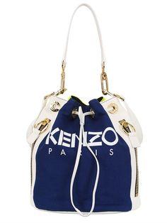 Kenzo Two Tone Canvas & Leather Bucket Bag Source: http://www.closetonthego.com/e-shop-product/63761/kenzo-two-tone-canvas-leather-bucket-bag/ © Closet On The Go