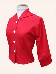 vivien of holloway raglan blouse red