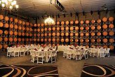 The barrel room at Leonesse Cellars