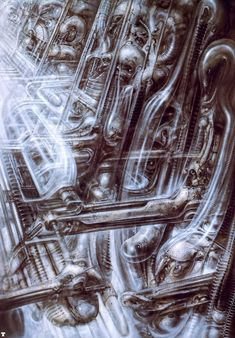 Ганс Руди Гигер: N Y City XII Science-fiction