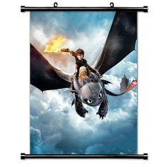 "Amazon.com - How to Train Your Dragon 2 Movie Fabric Wall Scroll Poster (16"" x 20"") Inches -"