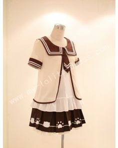 Bandage Short Skirt with Bear Paws and Head Casual Lolita #lolitadress  #lolita