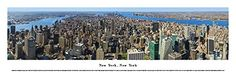 New York City US Skyline Panoramic Print- Awesome and Beautiful! This Is a Must for Any Home or Office Decor!