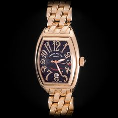 Franck Muller 18K Rose Gold Conquistador Full Size Men's 18K Rose Gold Bracelet