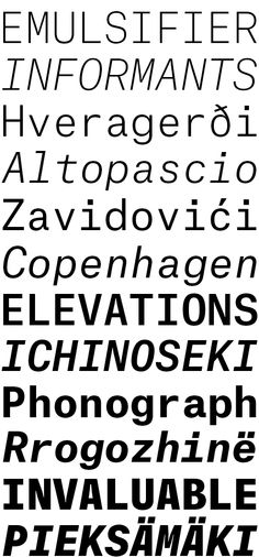 Atlas Typewriter by Kai Bernau and Susana Carvalho (Commercial Type) Monospace, Typography, Lettering, Type Design, Typewriter, Copenhagen, Kai, Commercial, Words