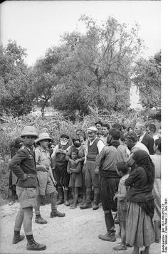 Kondomari massacre, Crete 1941 - pin by Paolo Marzioli Victory In Europe Day, Invasion Of Poland, Paratrooper, German Army, Local History, Greece Travel, Eastern Europe, World War Two, Historical Photos