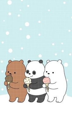 Iphone 6 We Bare Bears Christmas Wallpaper