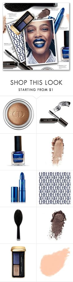 """""""Bold Blue Lip Color"""" by kellylynne68 ❤ liked on Polyvore featuring beauty, Christian Dior, Bobbi Brown Cosmetics, Lipstick Queen, GHD and Guerlain"""