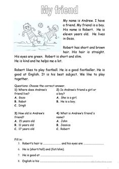 Comprehension for beginners Present simple tense Body parts Reading reading comprehension exercises Beginner elementary school Reading Comprehension For Kids, First Grade Reading Comprehension, 2nd Grade Reading, Reading Passages, Reading Skills, Reading Response, English Worksheets For Kids, Reading Worksheets, Printable Worksheets