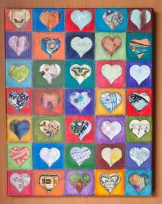 Heart Art #2 Mixed Media Collage by UnStrungSisters