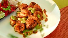 Sambal Prawn with Bitter Beans (Sambal Udang Petai) Prawn Recipes, Spicy Recipes, Asian Recipes, Cooking Recipes, Ethnic Recipes, Chef Wan, Asian Food Channel, Amazing Vegetarian Recipes, Dried Chillies