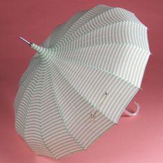 chic green & white striped umbrella from Bella Umbrella