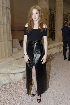 Ellie Bamber at the Chanel Resort 2018 show.