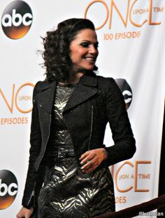 Lana Parrilla at the #OnceTurns100 party on February 20, 2016
