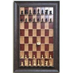 Fancy - Straight Up Chess - Red Cherry Chessboard with Walnut Scoop Frame: Amazon.com: Sports & Outdoors