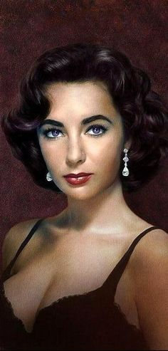 """The """"violet"""" eyes of Elizabeth Taylor. I knew someone who got to dance with her at a USO function in WW2. He said he was haunted by her eyes - the most beautiful he had ever seen."""