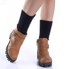 Ladies Winter Knit Leg Warmers Solid Color Short Twisted Boot Cuffs Calentadores Piernas Women Boot Toppers Adult Boot Socks