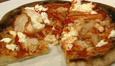 the chew | Recipe  | Daphne Oz's Fajita Chicken Pizza    ingredients  1 Pizza Crust (parcooked)1/4 cup Strained Tomato Sauce1/2 Bell Pepper (sliced)1/2 Onion (sliced)2 tablepsoons Olive Oil1/4 cup Goat Cheese3 Mushrooms (sliced)1 teapsoon Cumin1 teaspoon Chili Spice2 Chicken Breasts    http://beta.abc.go.com/shows/the-chew/recipes/bbq-chicken-pizza-daphne-oz
