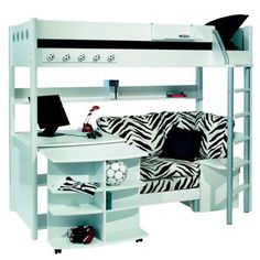 Futon Bunk Bed With Desk