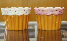 cupcake bowl, ice cream designed bowls pottery, ceramic bowl kids' cute cupcake bowls