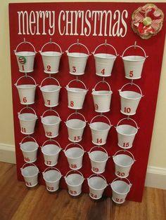 Advent calendar dollar-store-buckets