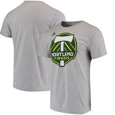 Display your team pride on game day with this Logo Set T-shirt from adidas. It features bold Portland Timbers graphics along with a rib-knit collar. Everyone will know your commitment to the Portland Timbers with this spirited tee! Portland Timbers, Portland City, Adidas Logo, Heather Grey, Mens Tops, T Shirt, Gray, Supreme T Shirt, Tee Shirt