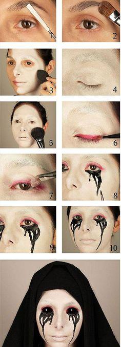 crying-nun-halloween-makeup-hacks-how-to