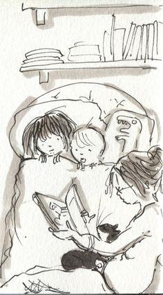 """""""La importancia de leer a los niños"""" - blog con recomendaciones para fomentar la lectura en los niños (il. Angie Stevens - Doodlemum-)"""