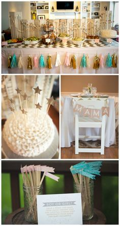 Twinkle, Twinkle Little Star Themed Baby Shower - love all the beautiful details and gender neutral design of this sweet shower!