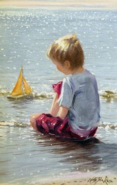 Love this painting:  Gentle Breeze by Nicholas St.John Rosse.
