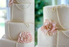 How gorgeous is this wedding cake. We love our vendors,  The Charlotte Cake Man is simply the best!