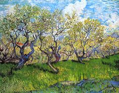 Orchard in Blossom - Vincent van Gogh - 1888
