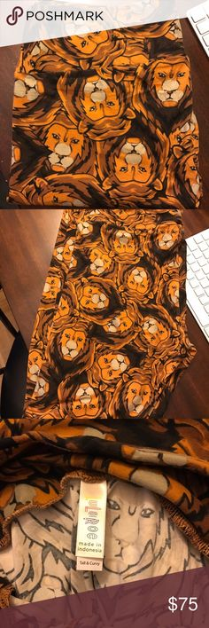 LuLaRoe TC Lion Leggings! NWT  LuLaRoe TC (size 12-22) leggings with hard to find lion print on them! Soooo soft! NWT & Never Been Worn! Perfect for the Disney Lion King lover! LuLaRoe Pants Leggings