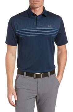 Mens Polo T Shirts, Polo Tees, Golf Shirts, Sport Shirt Design, Sports Jersey Design, Mens Golf Fashion, Polo Fashion, Under Armour, Stylish Shirts
