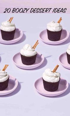 20 Boozy Dessert Ideas to Liven Up Your Next Party | Martha Stewart Weddings - Turn things up a notch for your next bachelorette party, bridal shower brunch, or wedding. The secret ingredient in these sweet treats? A touch of alcohol to enhance the flavor and heighten the fun.