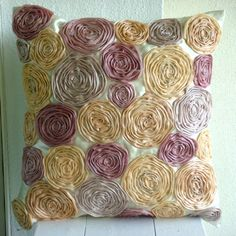 Vintage Dreams rose textured pillow in pastel colours