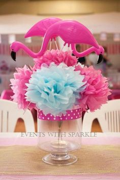 Pink Flamingo themed birthday party Full of Lots of Cute Ideas via Kara's Party…