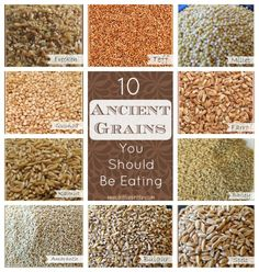 10 Ancient Grains You Should Be Eating - Your Choice Nutrition 10 Ancient Grains you should be eating. Bring these wholesome, nutrient-packed ancient grains back to the modern kitchen! Proper Nutrition, Nutrition Plans, Nutrition Tips, Healthy Nutrition, Complete Nutrition, Nutrition Store, Healthy Protein, Nutrition Classes, Quinoa Grain