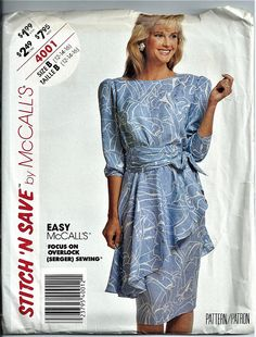McCalls Stitch N Save Sewing Pattern 4001 Misses Sizes 12 14