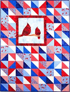 """Two of a Kind Pattern - 55"""" x 73"""" This would be great with an embroidered square."""
