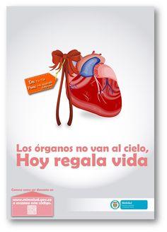 """Check mi nuevo trabajo en mi @Behance portfolio: """"Los órganos no van al cielo, hoy regala vida."""" on.be.net/1Ofq0PV"""