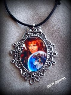 Labyrinth Jareth and Sarah cameo necklace by Flamethrowerluv13, $11.99
