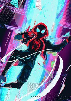 Gotta go highIts late but happy twi Amazing Spiderman, Spiderman Spider, Spider Art, Spider Verse, Marvel Comics Art, Marvel Heroes, Neko Girl, Miles Morales Spiderman, Spectacular Spider Man