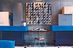 Desk & cabinets by Wearstler: California interior designer Kelly Wearstler glamorizes a Tribeca triplex.