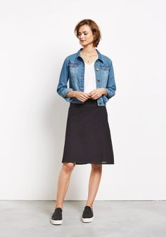 hush   Perforated A Line Skirt