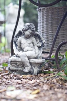 Angel on bench