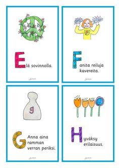 Julisteet - Värinautit Finnish Language, Pre School, Finland, Bullet Journal, Comics, Kids, Pictures, Young Children, Photos