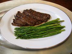 marinated flank steak and asparagus recipe
