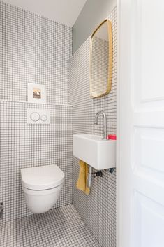White Tiles, Bathroom Interior Design, Ideas Para, Toilet, Sink, Sweet Home, Flooring, House, Google