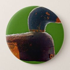 Antique duck decoy button - rose style gifts diy customize special roses flowers